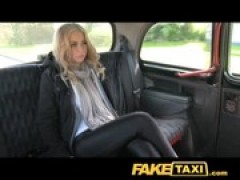 FakeTaxi Hot blondy tourist in first time .