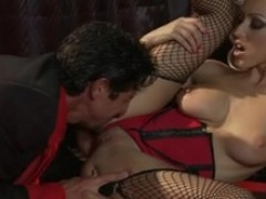 Sausage starved Breanne Benson couldn't just resist her lover's irresistible rod