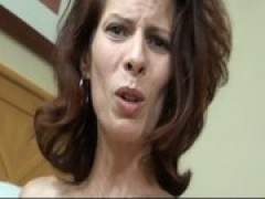 son blackmailes mom and cums inside of her three
