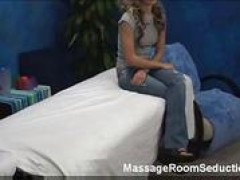 Hot woman in massage room