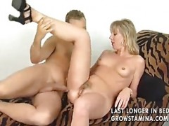 yellow-haired Housewife drilled Real Good.