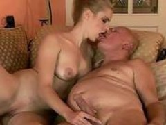 Very mature grandpa fucks young hottie