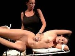 Mistress playing with her sex slave