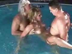 two grandpas fuckig hot young lady