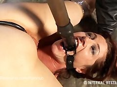 Cici Rhodes bound in pretty Lingerie with Elise Graves