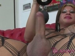 tgirl Art Brunette ladyboy mounts a ebony stud by ReallyUseful