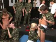Bisexual Army Orgy - You WILL suck that penis, soldier!