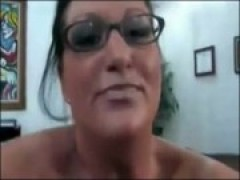 Milf takes on a huge young rod
