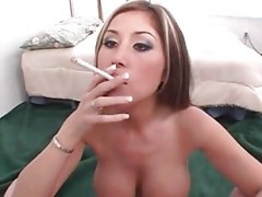 Smoking hot with large tits