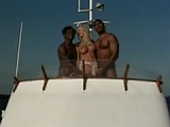British man Omar and friend fuck Helen on a boat
