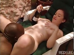 ebony man nails young by the pool