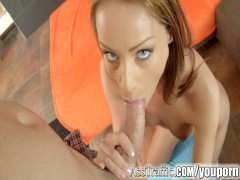 Sophie Lynx gets anal fucked and blows jizz