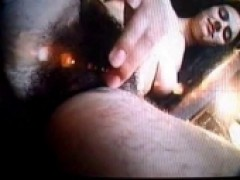 Hairy Babe cunt Rubbing