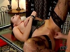 Silvie Deluxe and her hot slave
