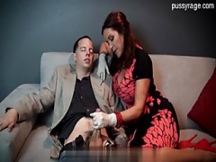 Hot gigantic titted housewife sucking