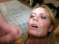 Alexis May gives blowjobs and takes jizz