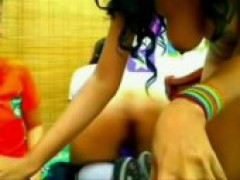 Sporty teenie Lesbians On Webcam
