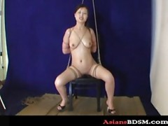 huge tits bitch hogtied and domina.