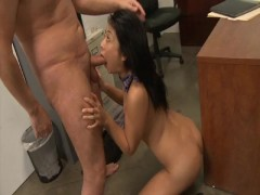 oriental student gets a facial