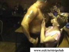 drunk wives attacking penii in stripper bar