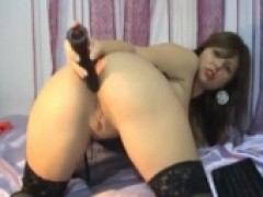 woman With huge boobies Play With Toys