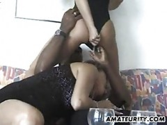 Amateur interracial threesome wit.