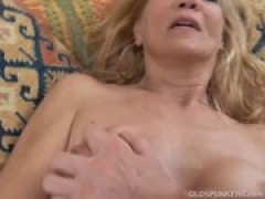 Slim yellow-haired MILF loves a sticky facial c .