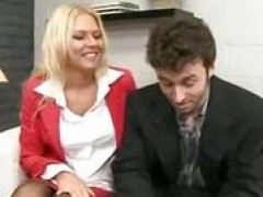 blondie gets nailed in office couch