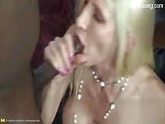 Interracial yellow-haired crazy chick