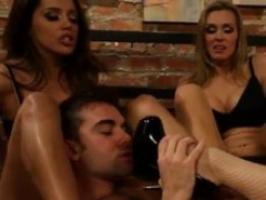 Awe-inspiring shagging And wild Foot Fetish movement in FFFM Foursome near Big-Titted sweetpies