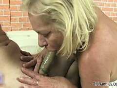 dirty granny Gets Horny blowing