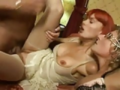 Hot old Euro Redhead mature Threeway (double feature)