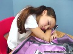 InnocentHigh Teacher banging thin oriental .