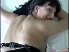 Nerdy milf talks dirty and rides for a facial