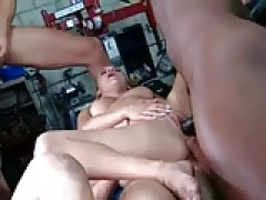 two babes ganbanged, analed and one double analed