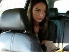 Taxi driver scams a petite foreign teenie