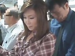 chinese girl licks meat In The Bus