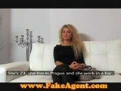 FakeAgent Curly blonde sex goddess in casting by ReallyUseful