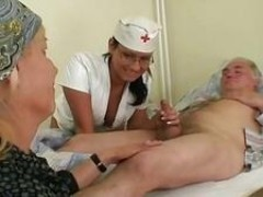 Grandpapa is banged by hot nurse