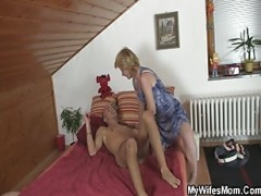 She helps her son-in-law cum and .