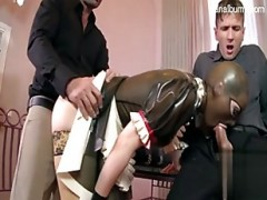 The maid in a gimp mask