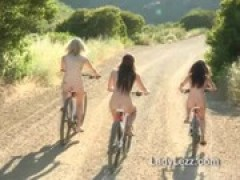 teen cuties ride bikes to lesbian sex spot