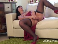 First time porn mom rides her needy vagina