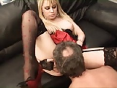 two mature dudes take advantage of young blondes