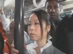 Officelady blows BBC on the train