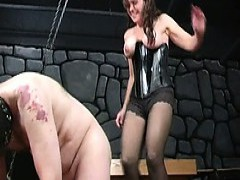 Bizarre milf dominatrix babes extreme rod and balls torture fetish