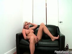 Hot blondy With huge boobies Gets screwed