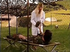 Army woman fuck in stockings