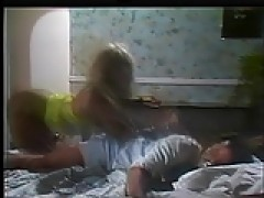 attractive lesbian hos in bed teasing