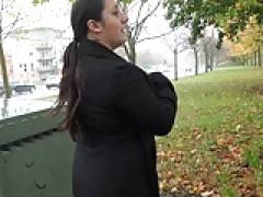 Chubby amateur babes public exhibitionism and busty flashers